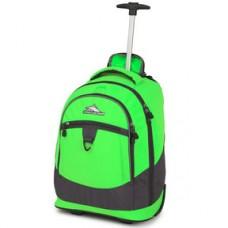 High Sierra Chaser Wheeled Backpack-Lime/Mercury