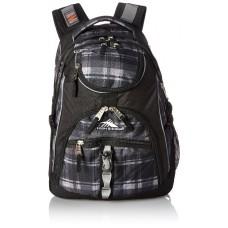 High Sierra Access Backpack, Slate Plaid/Black