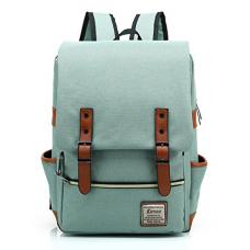 Kenox Vintage Laptop Backpack College Backpack School Bag Fits 15-inch Laptop (Green1)