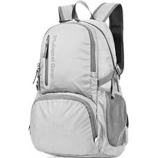 Backpack - Durable Packable Lightweight Backpacks for Travel Hiking - Daypack for Women Men (Light Grey)
