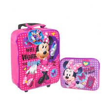 Disney Girls' Minnie 3 Pc Luggage Set, Pink