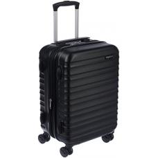 AmazonBasics Hardside Spinner Luggage - 20-inch Carry-on/Cabin Size, Black