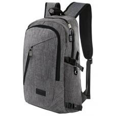 Business Laptop Backpack, Slim Anti Theft Computer Bag, Water-resistent College School Backpack, Eco-friendly Travel Shoulder Bag w/ USB Charging Port Fits UNDER 17