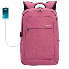 Kopack College Laptop Backpack With Usb Charging Port Anti Theft Travel Backpack Fits 15.6 Inch Laptop Purple