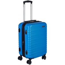AmazonBasics Hardside Spinner Luggage, 20-inch Carry-on/Cabin Size, Light Blue