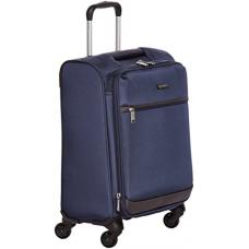 AmazonBasics Softside Spinner Luggage, 18-inch Carry-on/Cabin Size, Navy Blue
